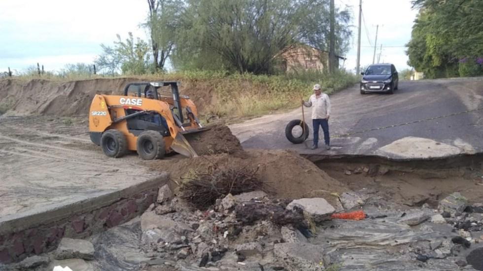 Activan recursos para dos municipios de BCS tras lluvia e inundaciones - Foto de @RubenGMA