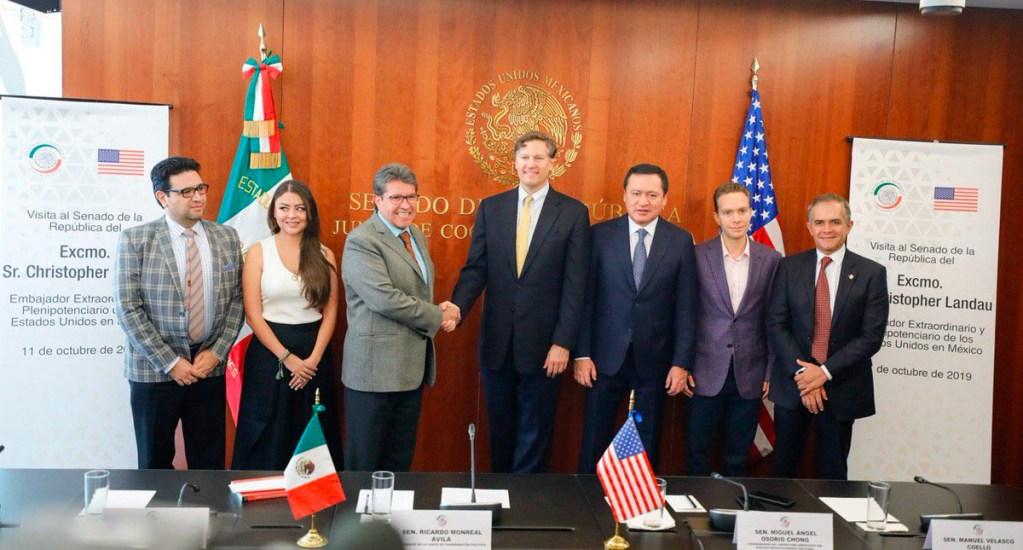 Embajador Landau se reúne con coordinares de partidos en el Senado - Landau