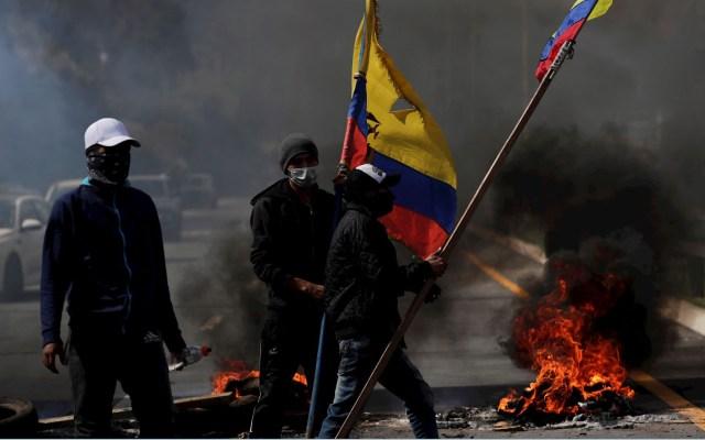 Papa Francisco anima a Ecuador a buscar la paz social - Las protestas en Ecuador suman cuatro muertos. Foto de EFE
