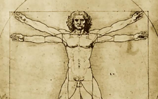 'Hombre de Vitruvio' de Da Vinci estará en el Louvre - Foto de internet