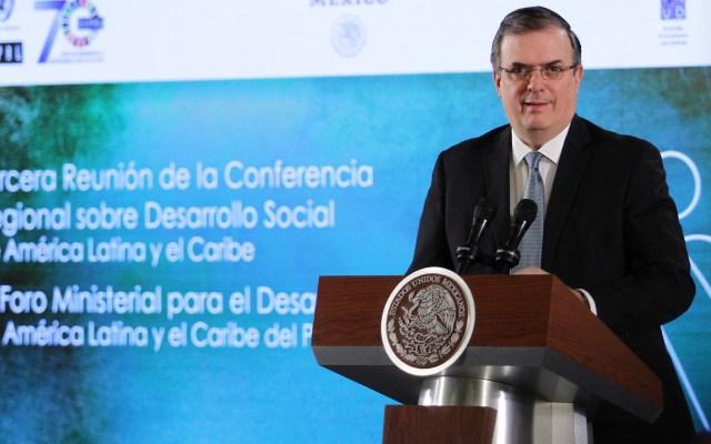 Ebrard pospone comparecencia en el Senado; confirma hospitalización de su padre - Marcelo Ebrard. Foto de Notimex-Guillermo Granados.