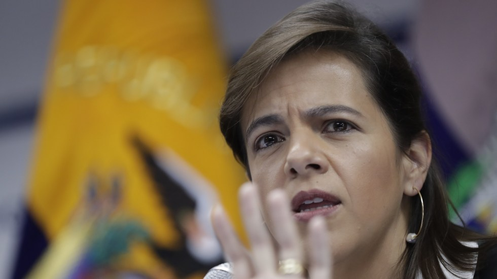 """""""Nadie ha ganado"""" en Ecuador tras las protestas: ministra de Gobierno - Ministra del Interior de Ecuador, María Paula Romo. Foto de EFE"""