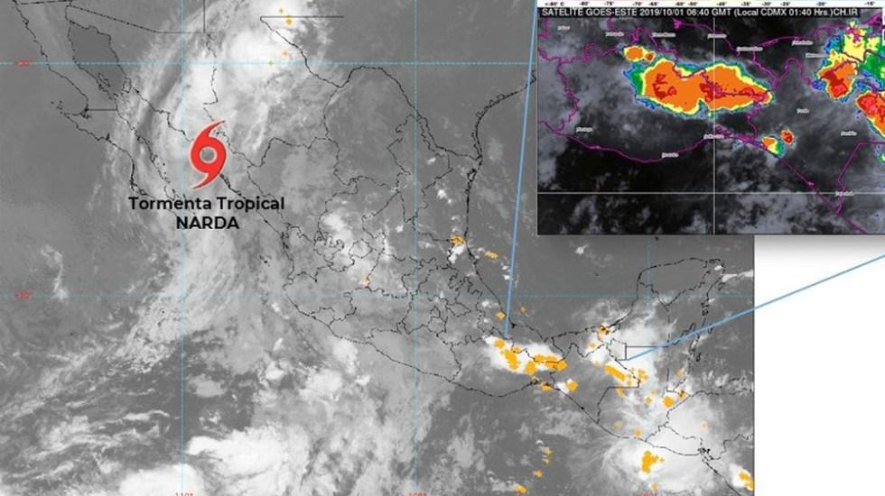 Narda avanza hacia Sonora y provoca lluvias en el noroeste del país - narda