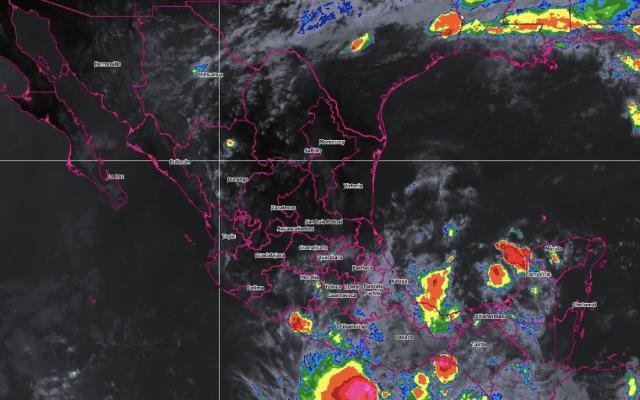 Vigilan perturbación al sur de Chiapas con probabilidad de desarrollo ciclónico - Foto de Conagua Clima