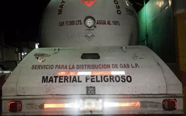 Aseguran pipa con gas LP en el Estado de México - Pipa con Gas LP Estado de México