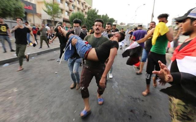 Suman 46 muertos y mil 650 heridos por protestas en Irak - protestas irak