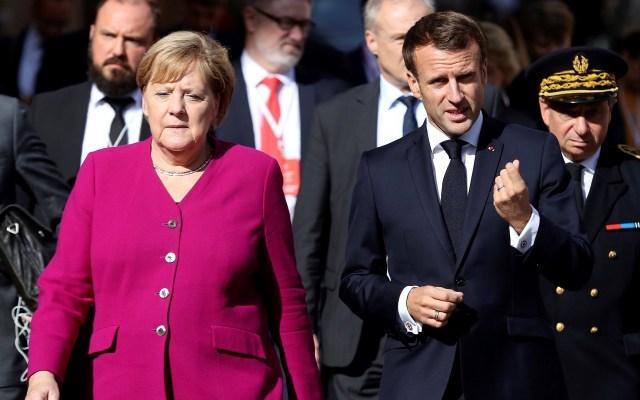 Macron y Merkel afianzan cooperación de cara al 'Brexit' - Reunión de Angela Merkel y Emmanuel Macron. Foto de EFE
