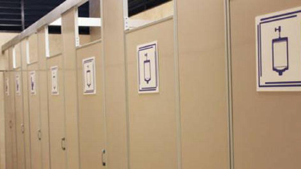 Instruyen a la UNAM dar a conocer botones de pánico en sanitarios - Sanitario mixto de la UNAM. Foto de FES Iztacala