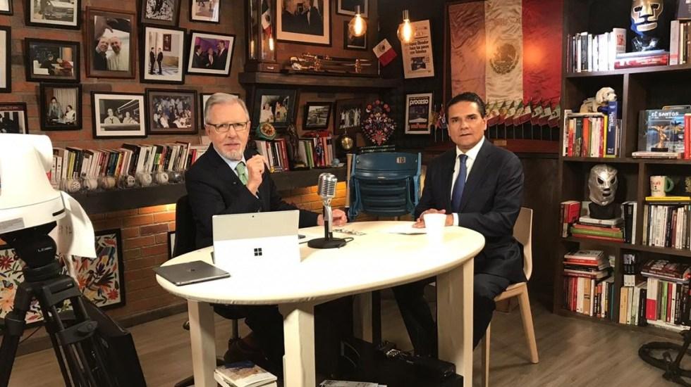 Capacidad institucional acabará con inseguridad y violencia en Michoacán: Aureoles - Silvano Aureoles en entrevista con Joaquín López-Dóriga. Foto de LDD