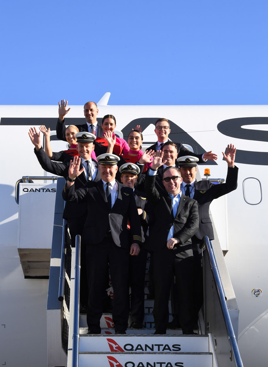 Tripulación de la aerolínea australiana, Qantas. Foto de EFE