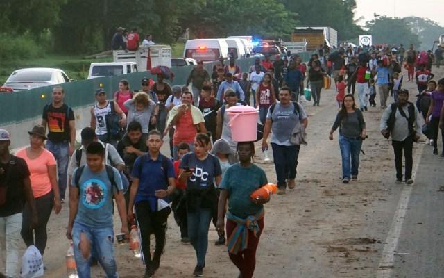 Se disuelve caravana migrante que partió de Tapachula - Una nueva caravana migrante se formó en Tapachula con destino a EE.UU. ante la tardanza de procesos de migración en México. Foto de EFE