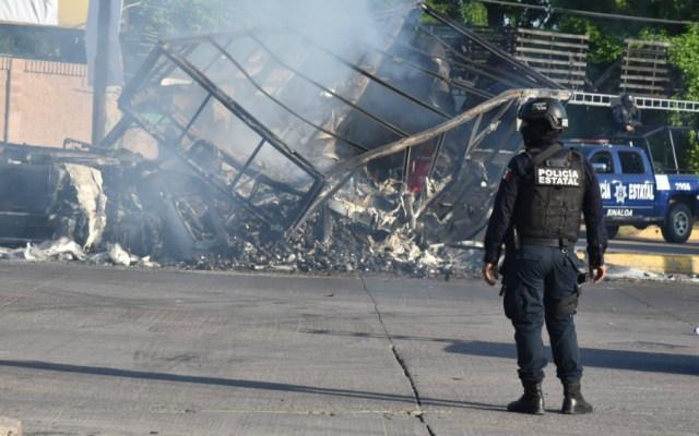¿Qué sabemos un año después de la fallida captura del hijo del 'Chapo'? - Culiacán tras los enfrentamientos por la detención de Ovidio Guzmán. Foto de Notimex