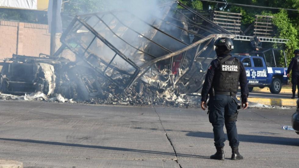 Miedo permanece en Culiacán a un año de enfrentamientos por operativo fallido para capturar a Ovidio Guzmán - Culiacán tras los enfrentamientos por la detención de Ovidio Guzmán. Foto de Notimex