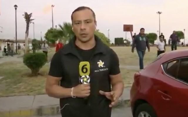 #Video Agreden y asaltan a reportero y camarógrafo en Edomex - Foto de captura de pantalla