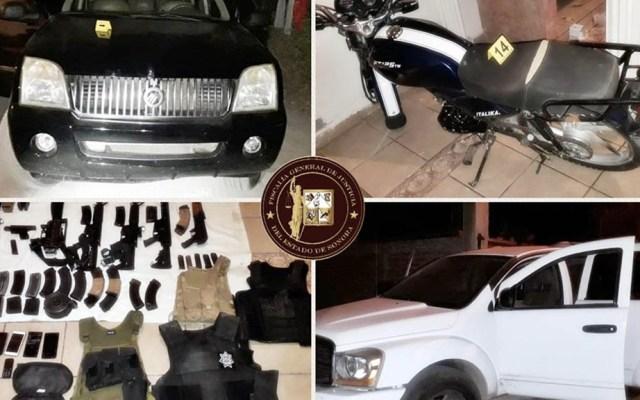 Decomisan armas y vehículos en Empalme, Sonora - Armas autos decomisados Sonora Enpalme