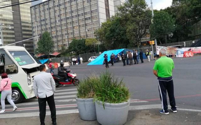 Extrabajadores de Pemex levantan bloqueo en Marina Nacional - Bloqueo en Marina Nacional