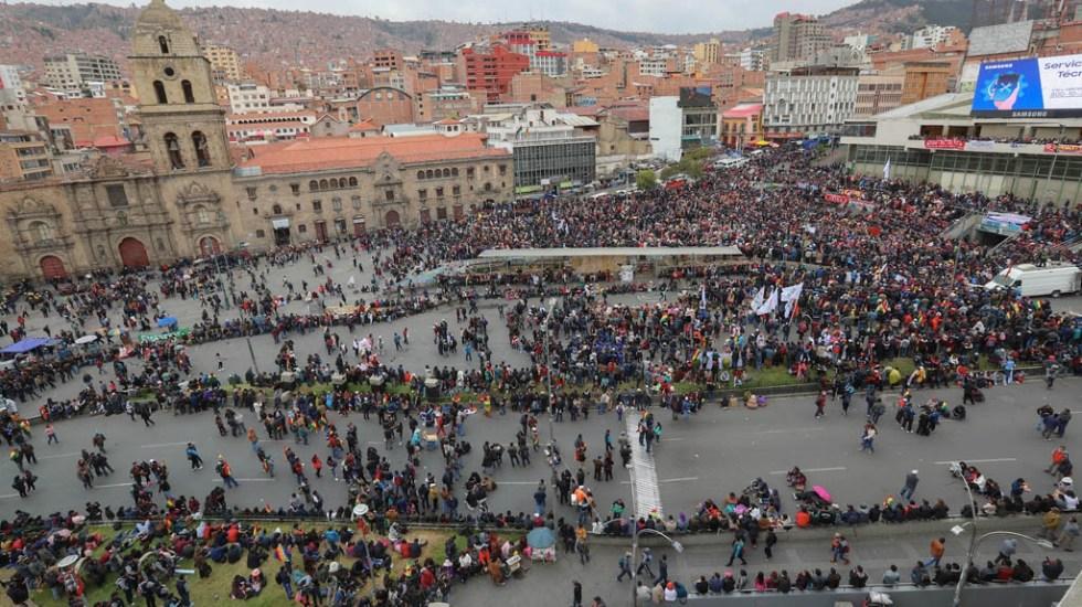 Defensores y detractores de Evo Morales se enfrentan en la capital de Bolivia - Bolivia manifestaciones manifestantes Evo Morales