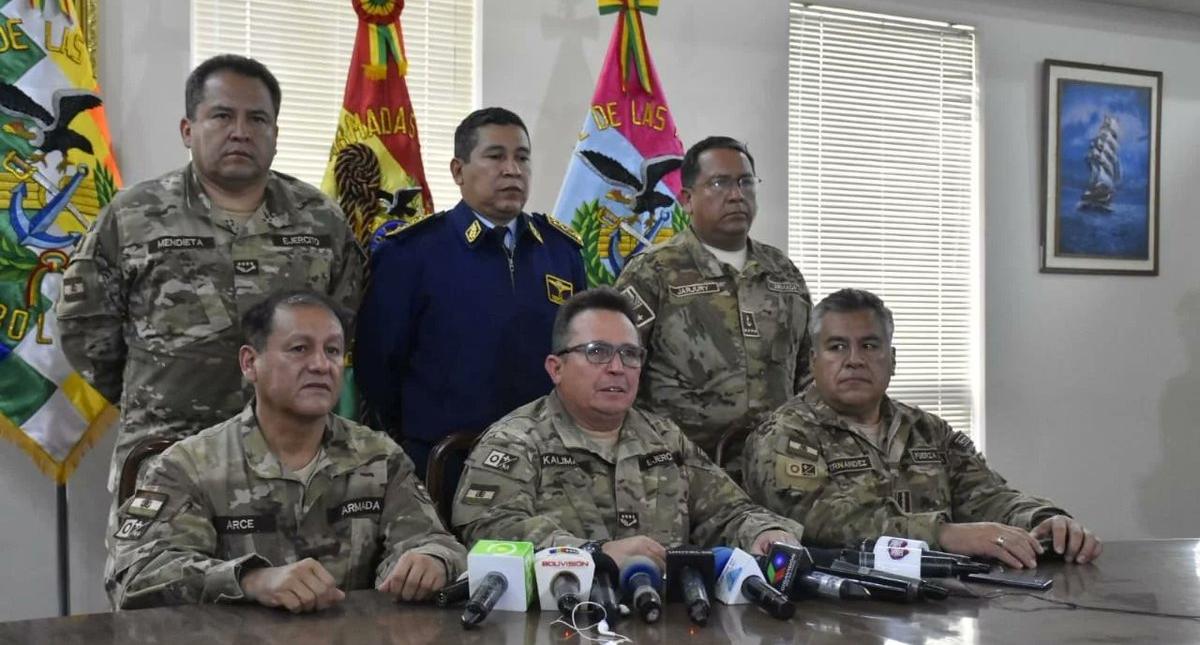 Fuerzas Armadas de Bolivia descartan enfrentamiento con la población