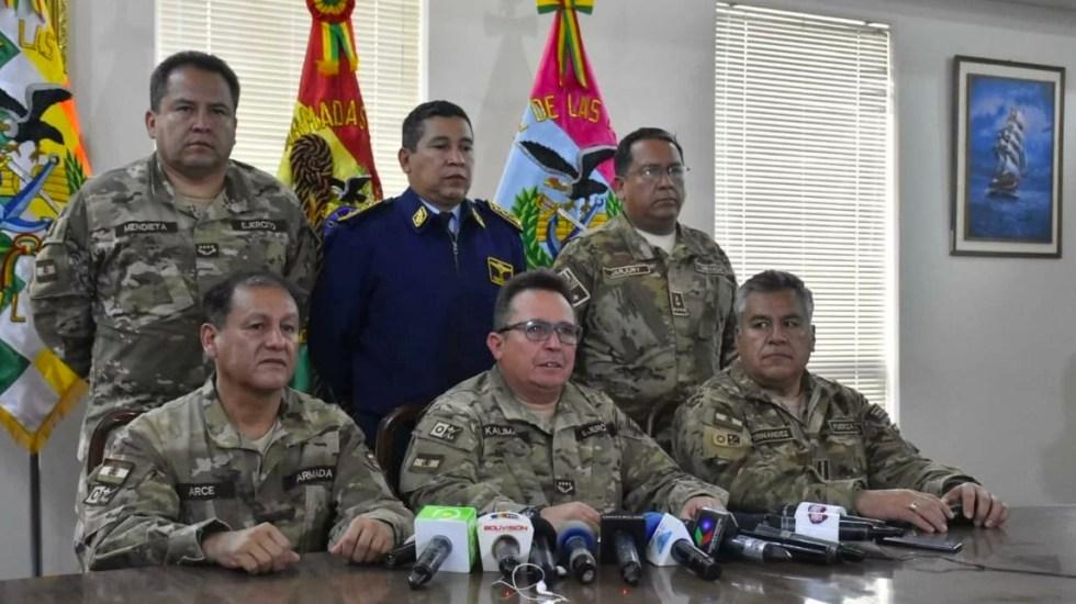 Fuerzas Armadas de Bolivia descartan enfrentamiento con la población - Fuerzas Armadas de Bolivia