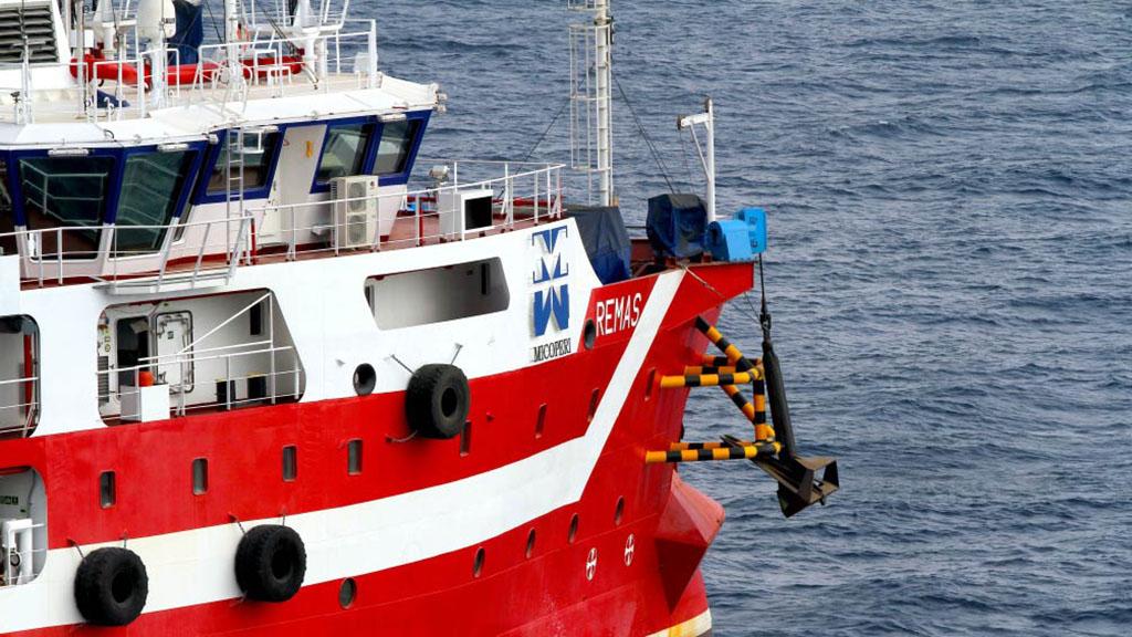 El buque 'Remas' pertenece a la compañía italiana Micoperi. Foto de Micoperi