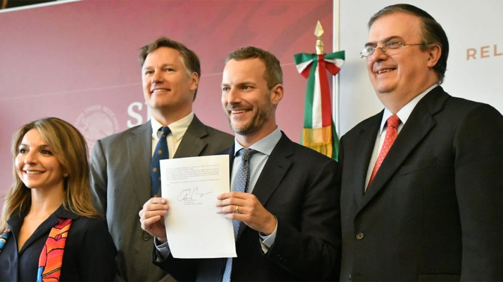 EE.UU. invertirá 632 mdd para gasoducto en el sur de México - Carta de intención de inversión de EE.UU. en México. Foto de SRE