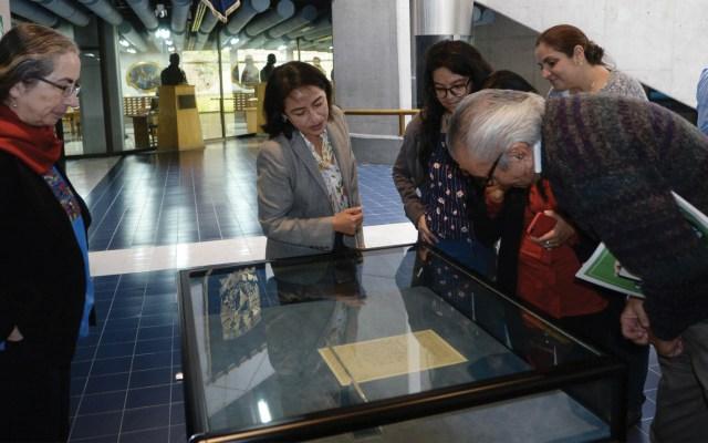 UNAM exhibe carta de Emiliano Zapata - Foto de UNAM