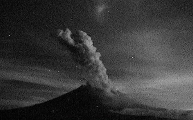 Volcán Popocatépetl registra 159 exhalaciones en 24 horas - Actividad de del volcán Popocatépetl. Foto de Cenapred
