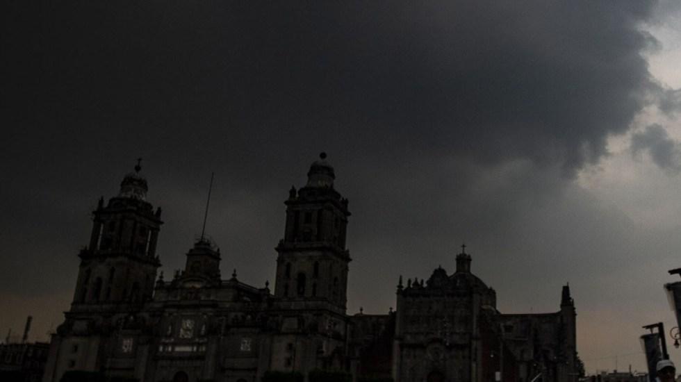 Volverá a llover en el Valle de México - Cielo nublado en la CDMX. Foto de Notimex