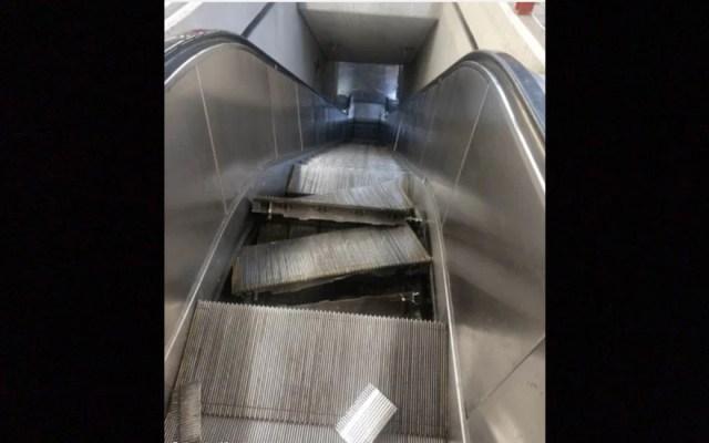 Fallan escaleras eléctricas en Metro Chabacano - metro