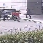 #Video Escolta impide asalto a mujer en Santa Fe