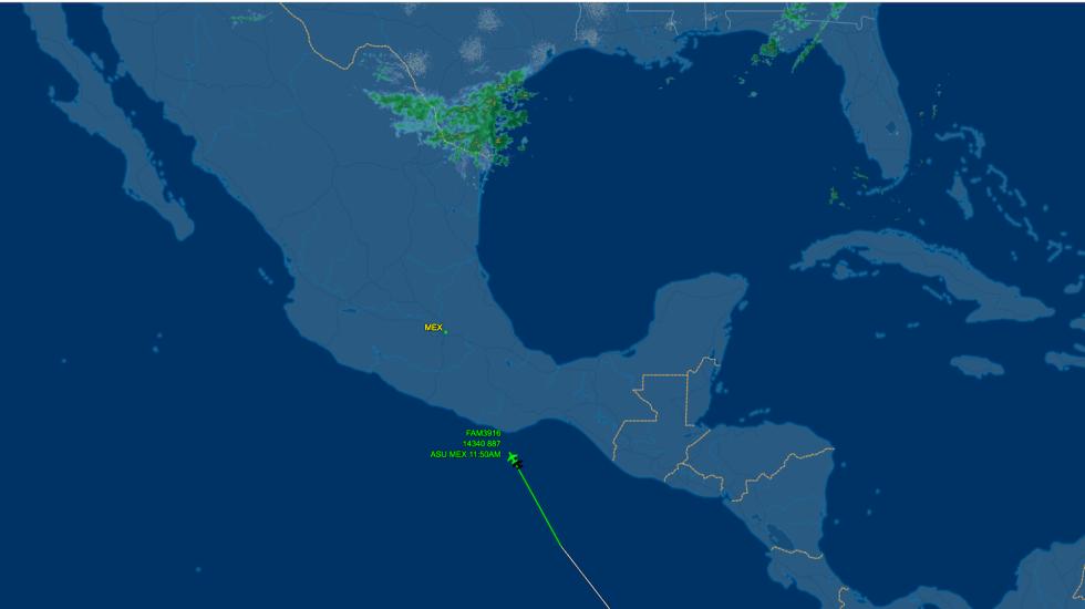 Evo Morales en espacio aéreo mexicano