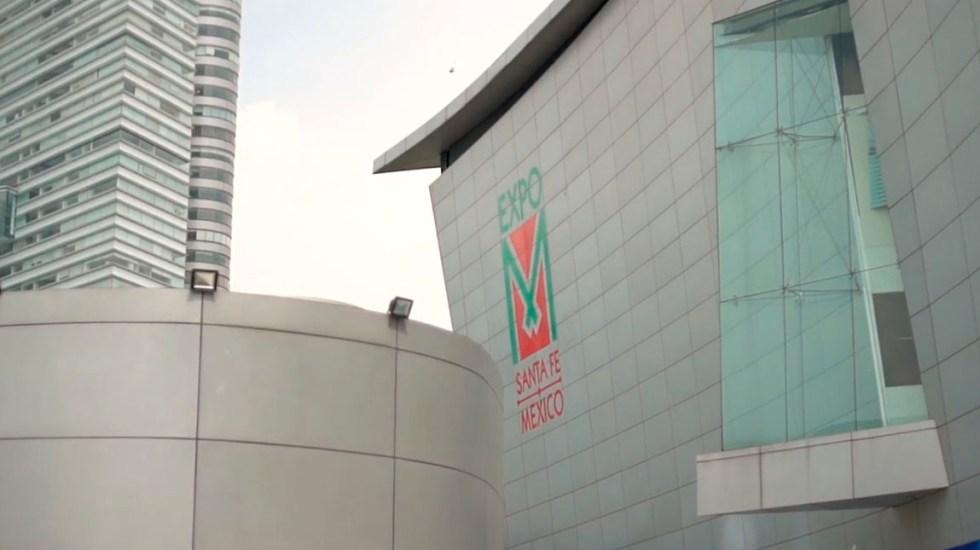 Diputados llegan a Expo Santa Fe, la sede alterna para aprobar Presupuesto 2020 - Expo Santa Fe México. Captura de pantalla