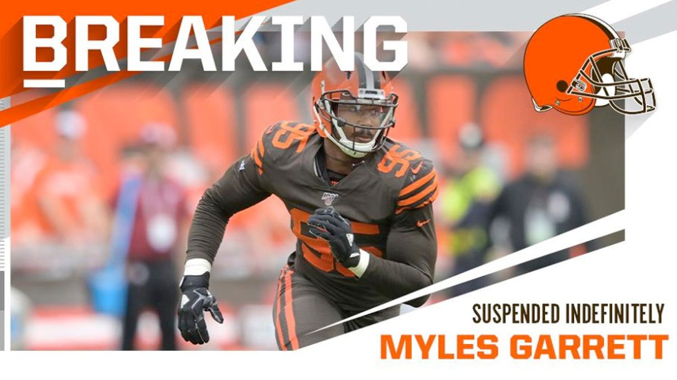 Suspenden indefinidamente a Myles Garrett tras riña con Mason Rudolph - Myles Garrett