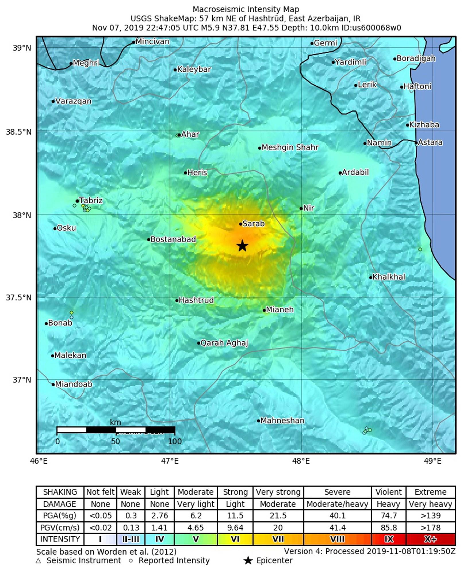 Irán sismo