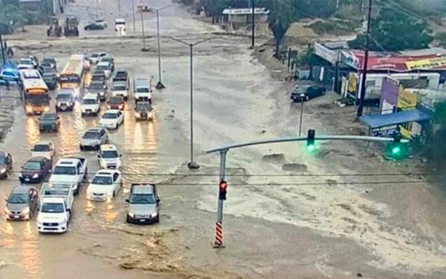 Intensas lluvias por frente frío 18 inundan localidades de Baja California Sur - Intensas lluvias en BCS