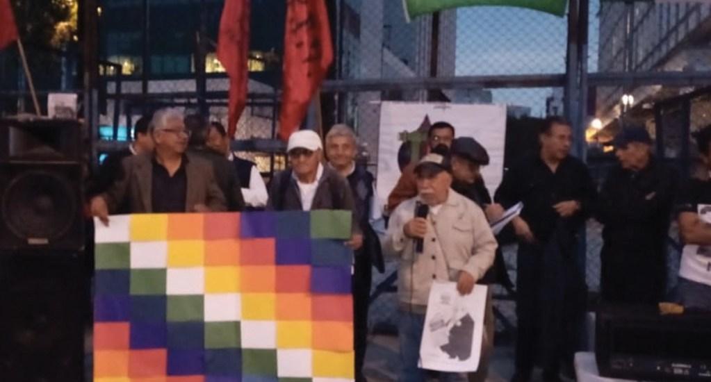 Manifestación a favor de Evo Morales en embajada de EE.UU. en México - Foto de @odt_wilde