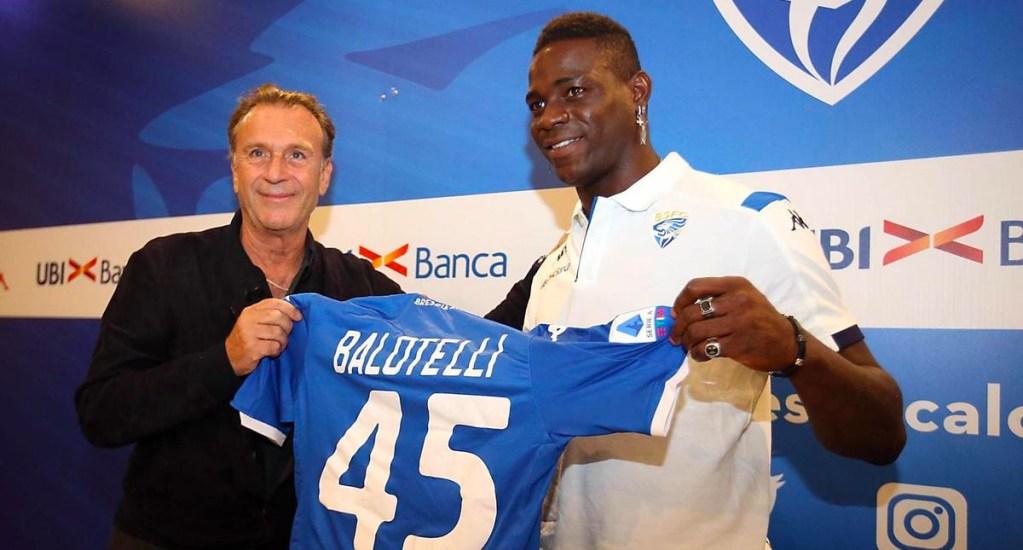 """""""Balotelli es negro, está trabajando para aclararse"""": presidente del Brescia - Massimo Cellino y Mario Balotelli"""