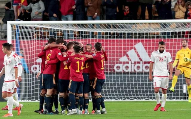 España golea sin piedad a Malta en eliminatoria de la Euro 2020 - Partido futbol Malta España