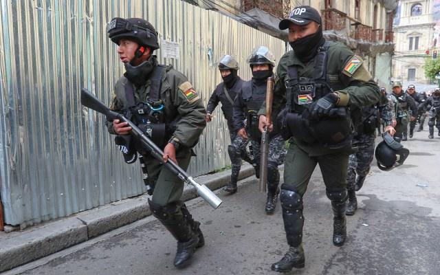 Estados Unidos recomienda no viajar a Bolivia por disturbios - Policía Boliviana. Foto de EFE