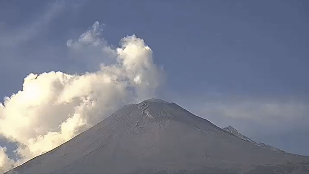 Popocatépetl emite 199 exhalaciones en 24 horas - Popocatépetl