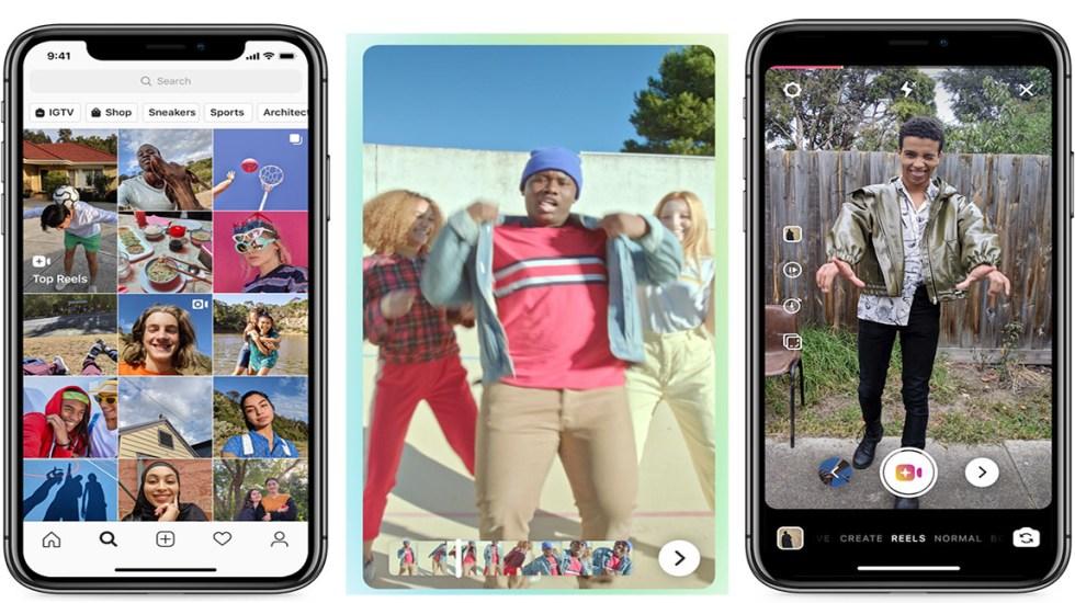 Instagram habilita videos musicales al estilo TikTok - 'Reels' es la nueva función de Instagram para crear videos musicales al estilo TikTok. Foto de Techcrunch