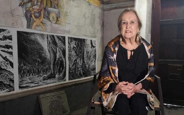 Murió la artista plástica y muralista Rina Lazo - Artista Rina Lazo. Foto de Milenio