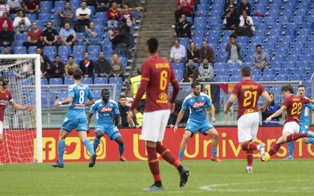 Roma saca al Napoli de puestos europeos - roma napoli