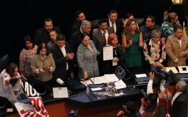#Video Rosario Piedra desconoce asesinato de periodistas - Rosario Piedra en el Senado