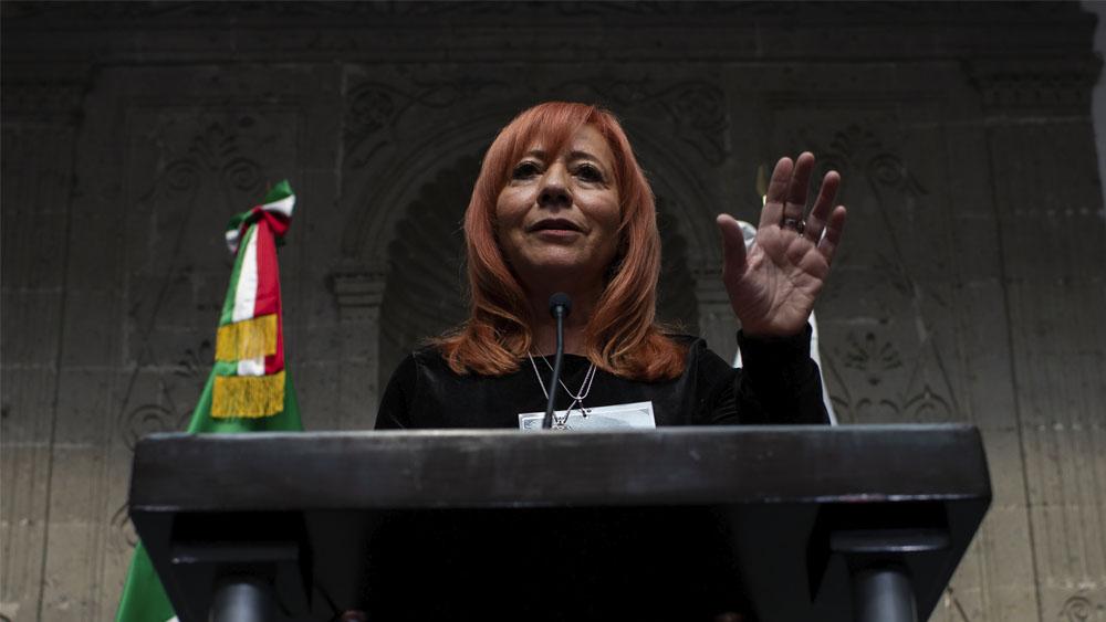 AMLO afirma respetar postura de ONU por Rosario Piedra - Rosario Piedra Ibarra. Foto de Notimex