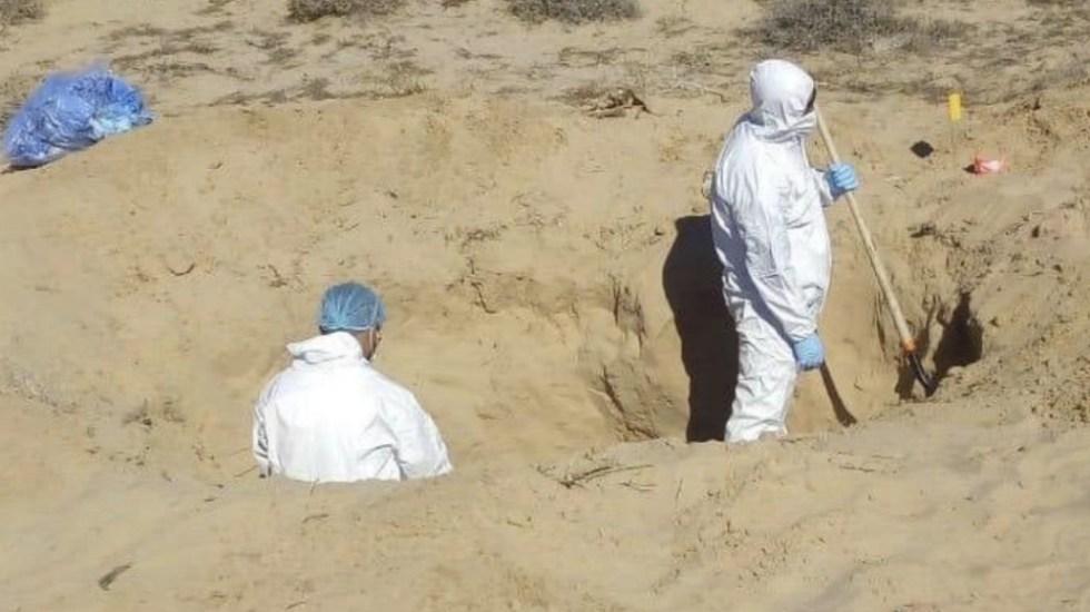 En lo que va del sexenio se han hallado mil 399 fosas clandestinas y recuperados más de dos mil cuerpos - Foto de @fgjesonora