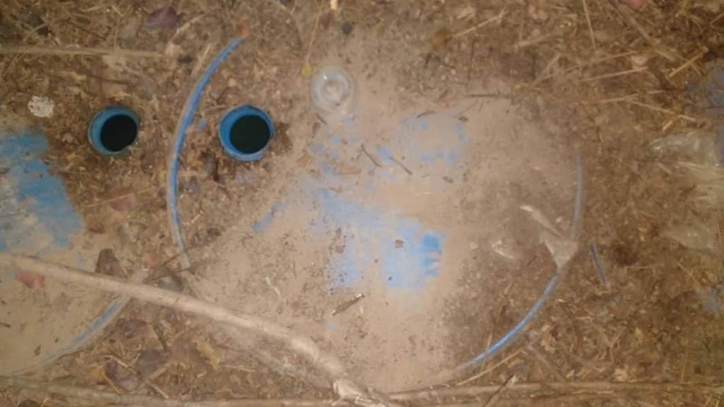 Hallan toma clandestina y tambos enterrados en Hidalgo - Foto de @REDPeriodistasH