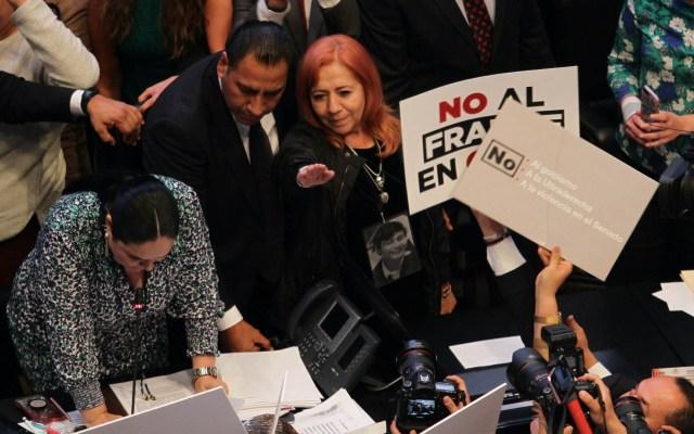 AMLO, satisfecho con designación de Rosario Piedra como titular de la CNDH - Toma de protesta CNDH Rosario Piedra Ibarra