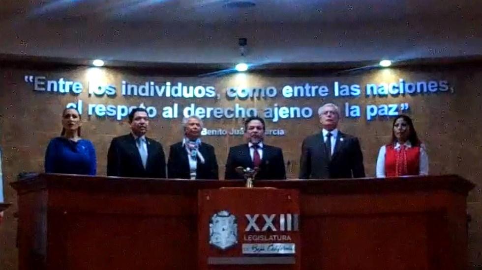PAN confía en que SCJN resuelva contra ampliación de mandato en BC - Toma de protesta de Jaime Bonilla. Captura de pantalla / @JaimeBonillaValdez