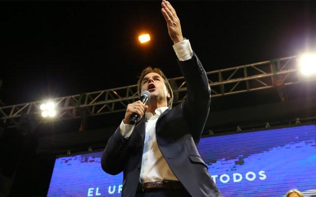 Ganador de elección presidencial de Uruguay podría conocerse este jueves - El candidato presidencial Luis Lacalle Pou, del opositor Partido Nacional